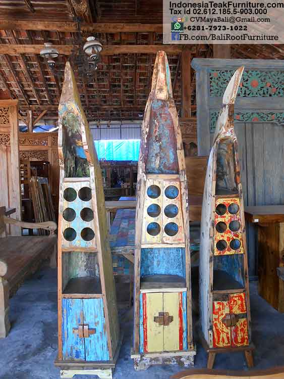 Reclaimed Boat Wood Cabinets Bali Furniture