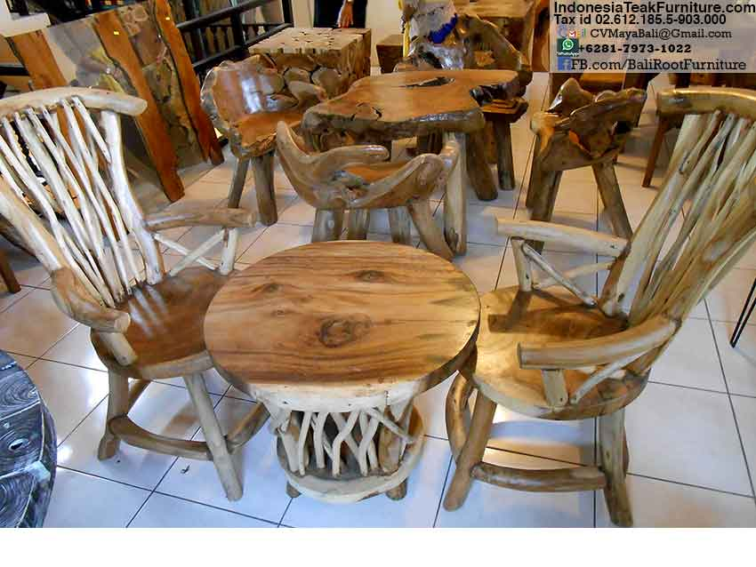 Teak Wood Chairs Table Set