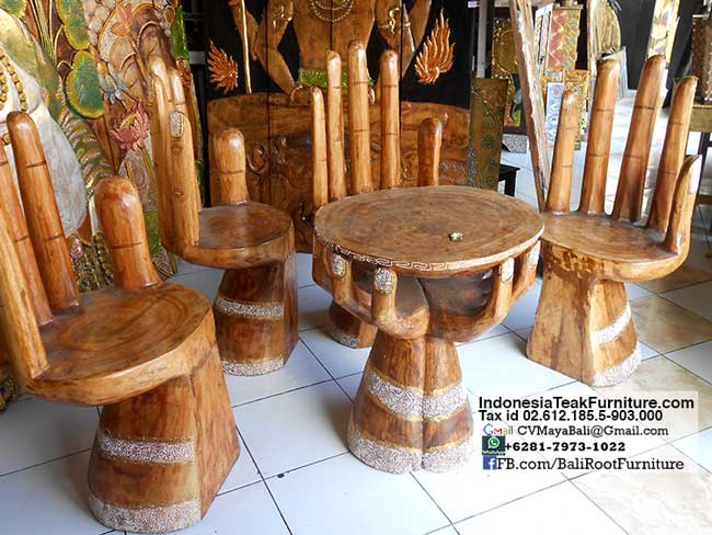 Hand Chairs Table Furniture Set Bali