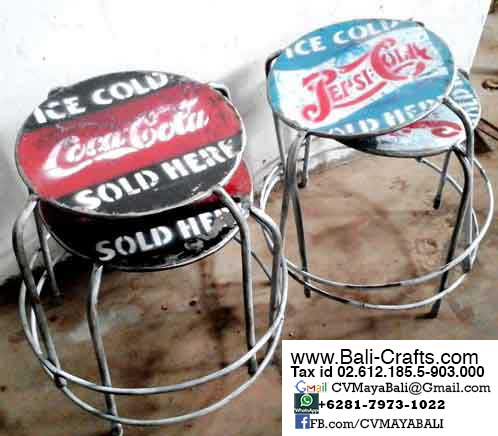Oildrm1-10 Rustic Steel Chairs Bali Indonesia