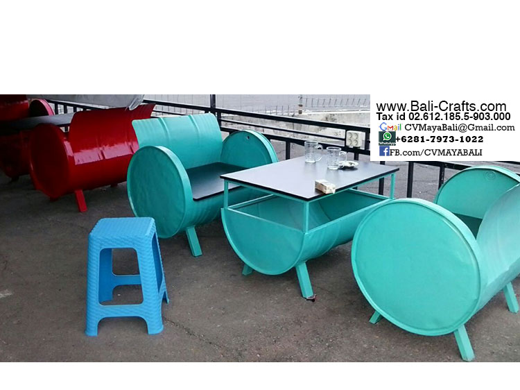 oildrm1-26 upcycle oill drum metal furniture bali indonesia