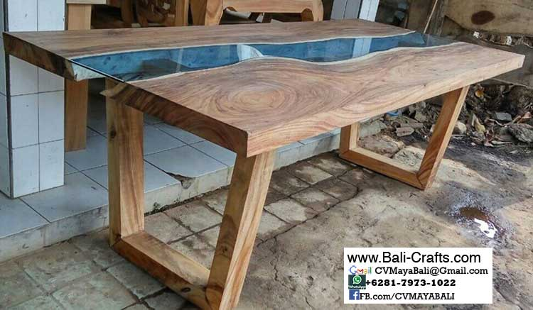 Bcaft1 26 Glass Table Teak Wood From Bali