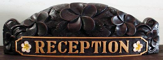 Balinese Wood Nameplates