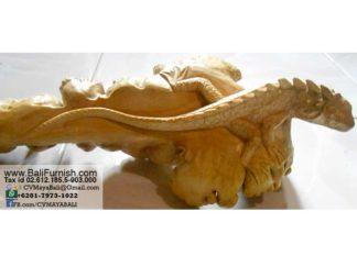 Prst3-28 Iguana Wood Carvings Parasite Wood