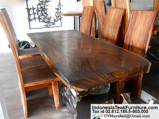 Suar Wood Dining Furniture Set