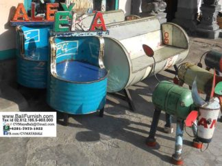 Recycled Oil Drum Chairs from Bali Indonesia