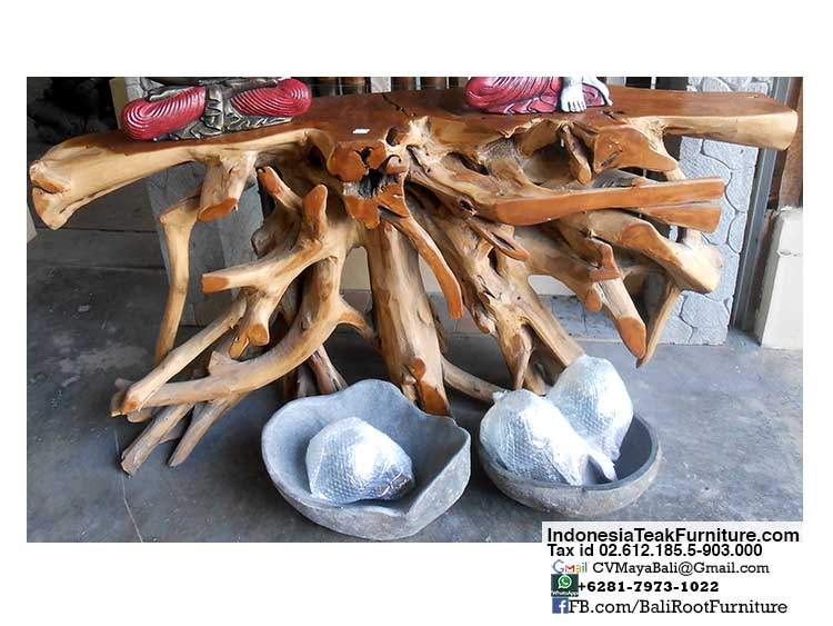 bctr1-1 Teak Root Console Table Bali Furniture Indonesia