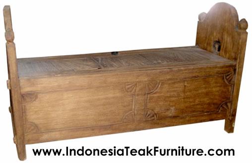 Teak Wood Furniture Chest Trunk Storage