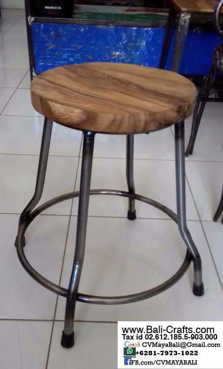 Bftml1-7 Teak Wood Metal Chairs Bali Indonesia
