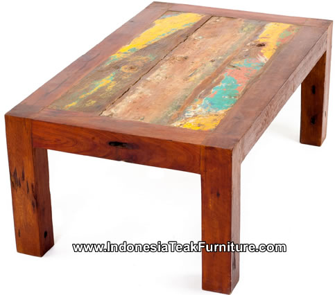 BT1-3 Reclaimed Ship Wood Table