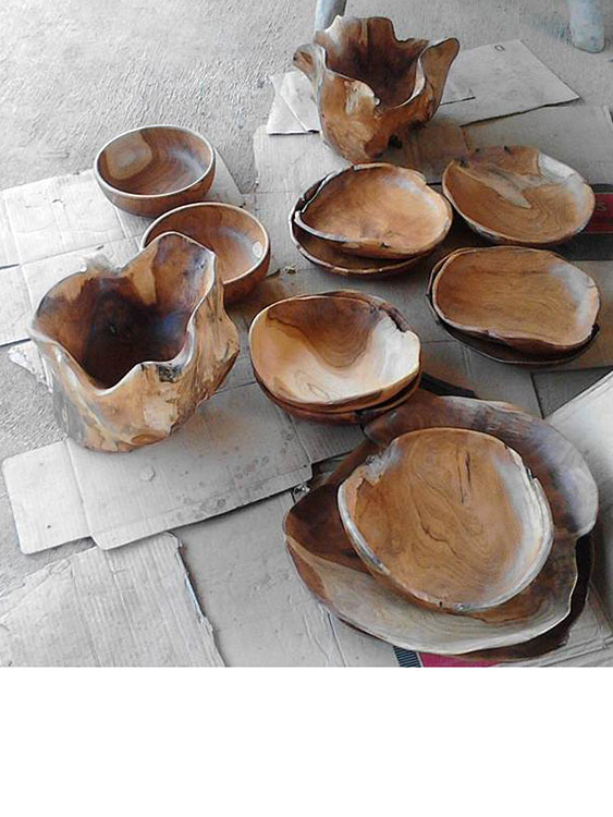 Teak Wood Bowls and Trays