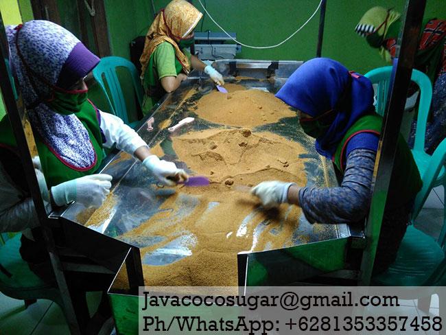 Organic Coconut Sugar Factory in Java Indonesia
