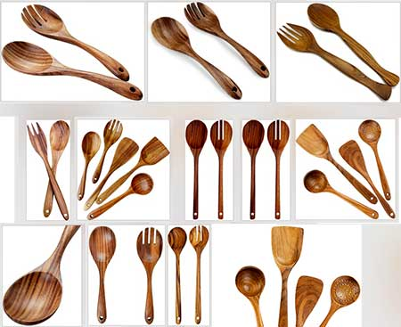 Teak Wood Spoon Fork Indonesia Teak Wood Kitchen Utensils